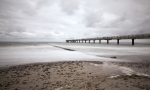 Langzeitbelichtung am Strand von Heiligen Damm